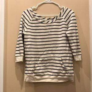 Lucky Brand striped 3/4 sleeve sweater